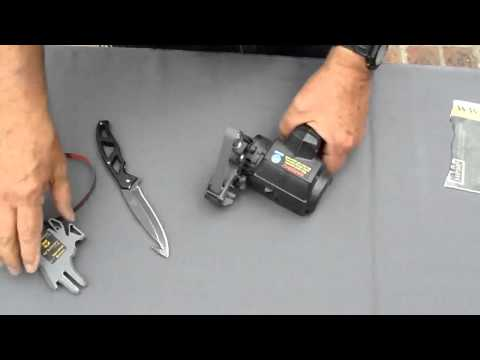 Hunting Knife With Gut Hook Sharpening Using The Work Sharp Knife Sharpener