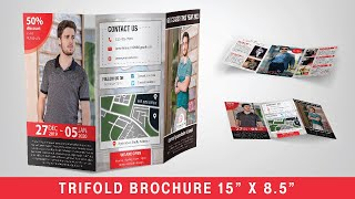 HOW TO MAKE AN AWESOME 15 x 8.5 TR FOLD BROCHURE  PHOTOSHOP and  LLUSTRATOR