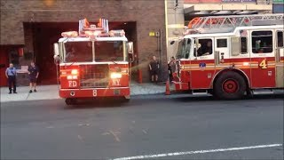 """""""FDNY"""" Ladder 8 Acting Ladder 4 & Then 4 Truck Returning To Th…"""