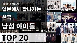 2016년 일본에서 잘나가는 한국 남자아이돌 순위 TOP20