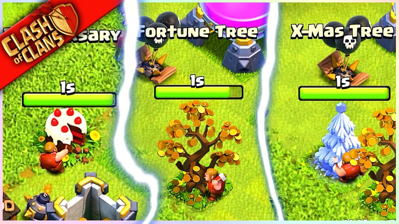 ** I'M REMOVING MY 5 RAREST Clash of Clans TREES? (whyyyyy!) **