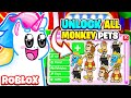 HOW TO GET ALL OF THE *NEW* MONKEY PETS in Adopt Me! Roblox Adopt Me Fairgrounds Update