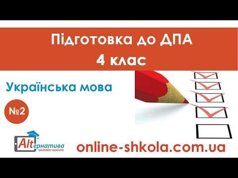 Підготовка до ДПА з української мови №2 (4 клас)