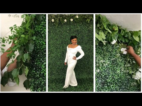 DIY GREENERY +FLOWER BACKDROP WALL | PERFECT FOR PARTIES AND PHOTOBOOTHS
