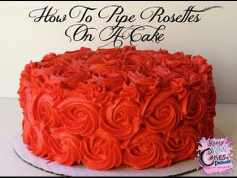 How To Pipe Rosettes On A Cake Youtube