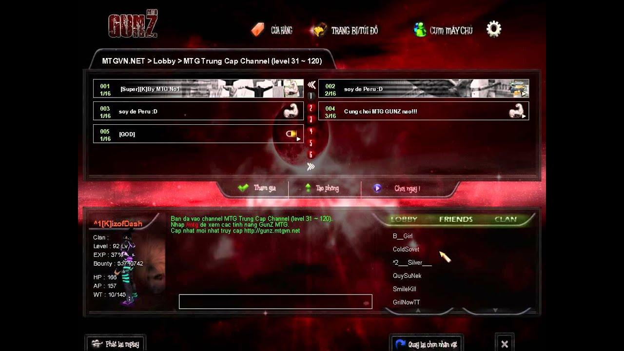Cách khắc phục lỗi vào game Gunz MTG