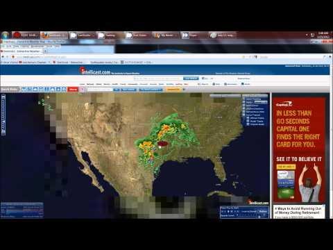 1/25/2012 -- TORNADOES AGAIN !  Texas, Oklahoma, Arkansas, Missouri = moving North East