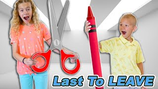 Last To Leave School at Home Arts and Crafts Fun Kids Play!