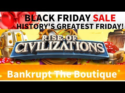 Rise of Civilizations - Bankrupt the Boutique - Black Friday Sale - Esmeralda - tips and advice's