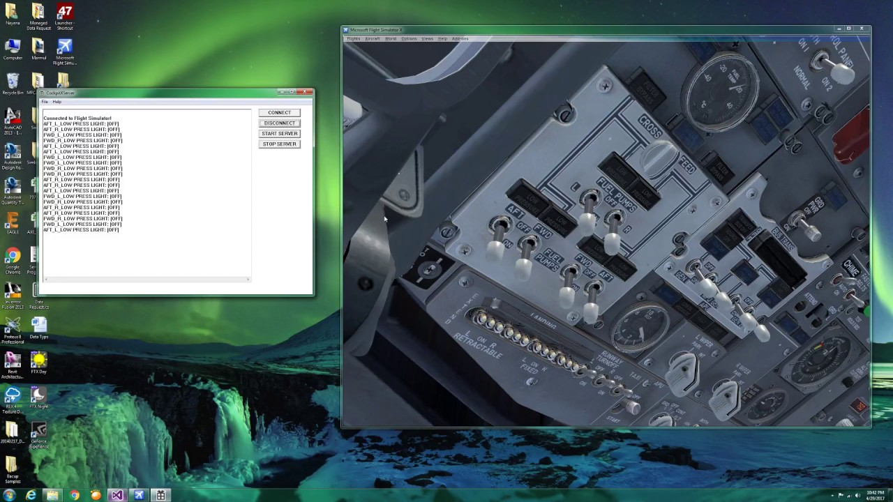 FSX Simconnect c++ Win32 GUI Application for the PMDG 737NGX