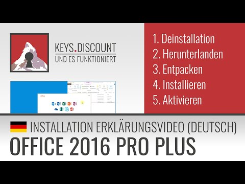 Installation Office 2016 Pro Plus (Erklärungsvideo)