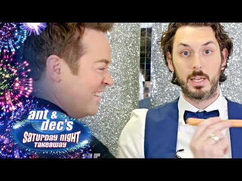 Blake Harrison and Stephen Mulhern Play Sling a Sausage!