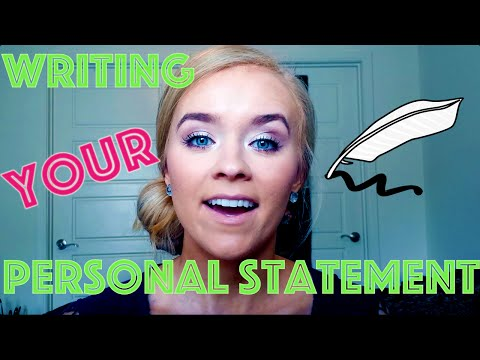 WRITING YOUR PERSONAL STATEMENT! (+ Excerpts From Mine)