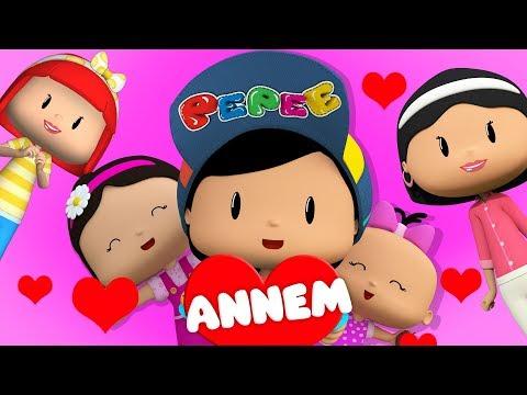 Pepee - Annem şarkısı - Pepee Annesine Çiçek Veriyor - Çocuk Şarkıları & Çizgi Film | Düşyeri