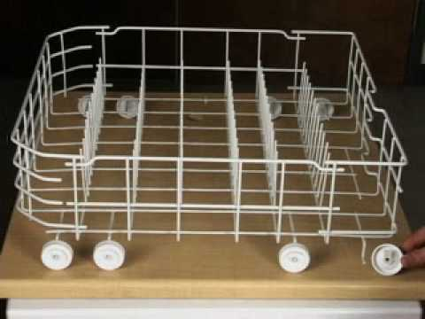 How To Install Dishwasher Lower Rack Wheels Youtube