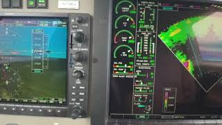 Use of Weather Radar During Flight in a Piper PA46 Meridian Turboprop Aircraft