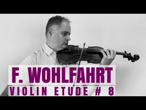 Franz Wohlfahrt Op.45 Violin Etude no. 8 from Book 1