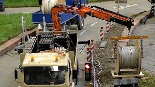 GIANT RC CRANE TRUCK SCALE MODEL TRUCK AT WORK / Intermodellbau Dortmund 2016