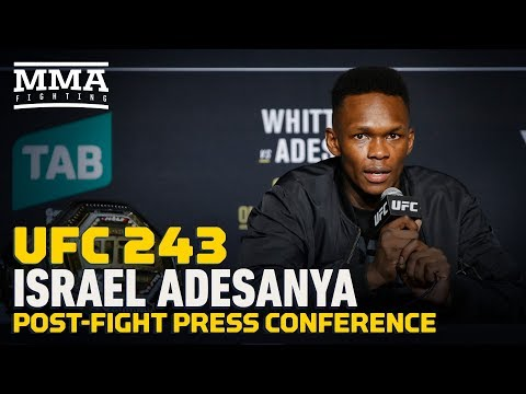 New UFC champ Israel Adesanya pleased, but admits he should've punched Whittaker at end of first