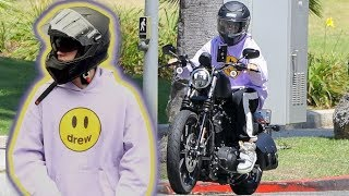 Justin Bieber Trades In His Motocross Bike For A Big Boy Harley