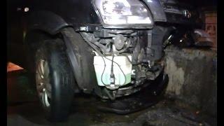 Пьяный водитель Hyundai протаранил машину охранной фирмы