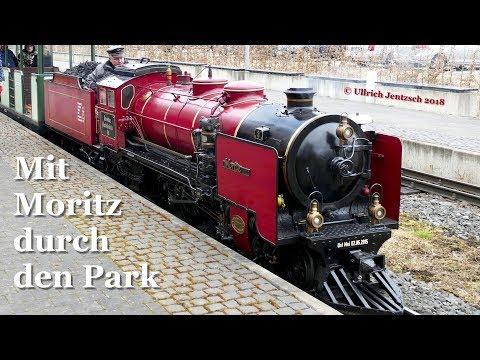 Mit Moritz durch den Park - Eine Osterfahrt mit der Parkeisenbahn Dresden