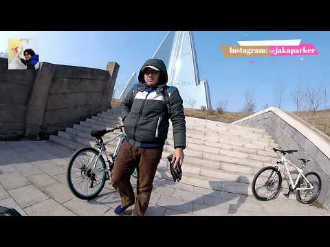 Cycling to the tallest skyscraper in North Korea