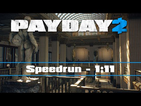 PAYDAY 2 - Big Bank DW Solo - Speedrun 1:11 [#30.2] (WR)