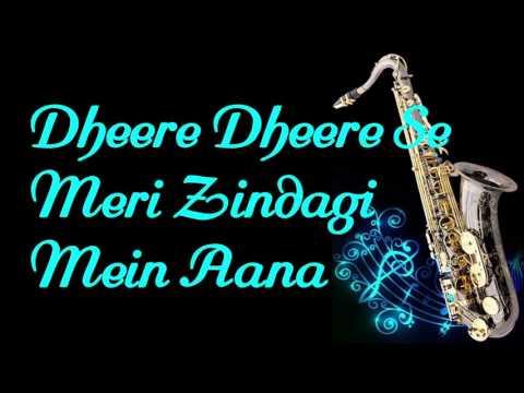 #122:-Dheere Dheere Se Meri Zindagi Mein Aana   Ashiqui   Instrumental  Saxophone Cover