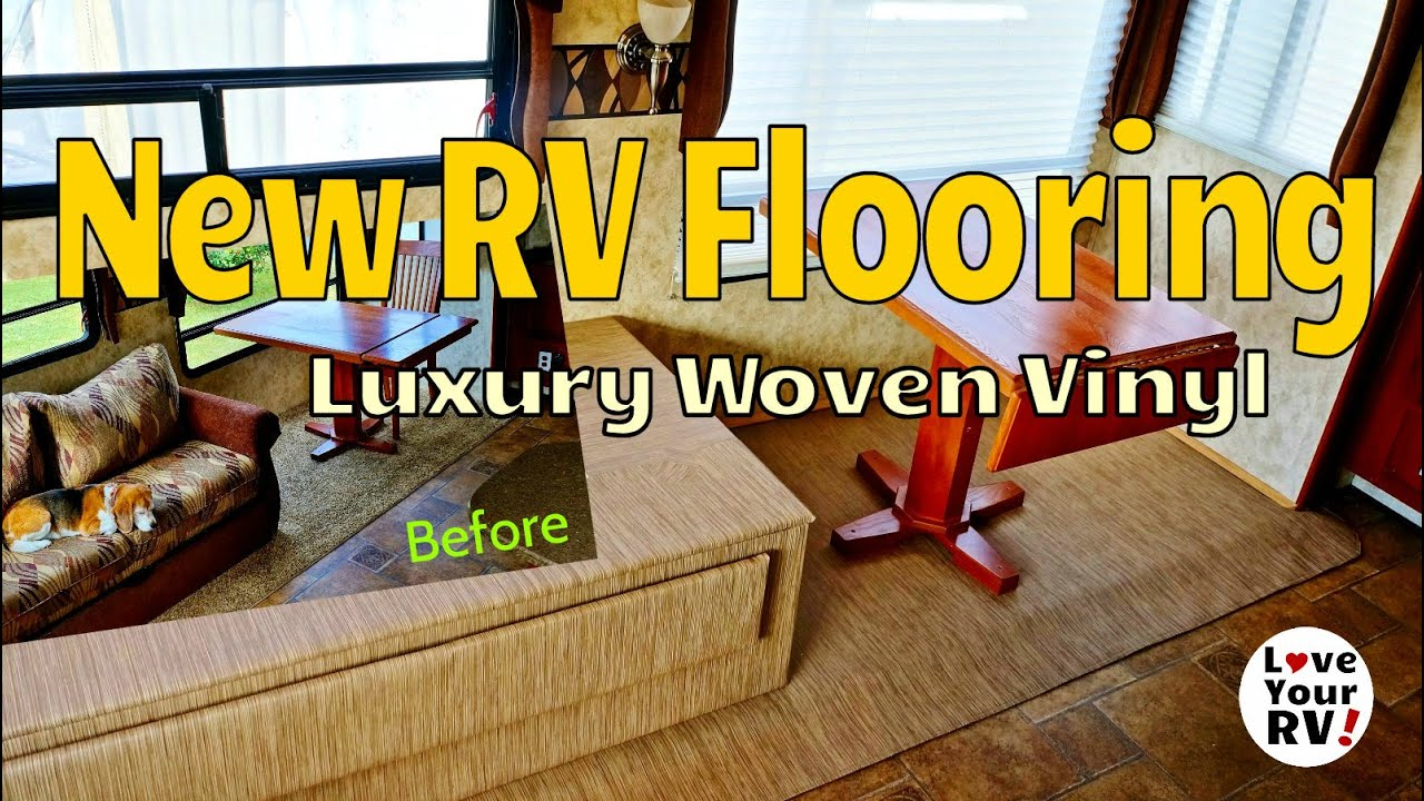 Remodeling My RV Interior Part 5   New RV Slide Flooring   YouTube