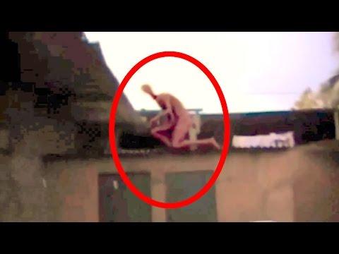 Criatura Bizarra  em cima do  telhado ! (descubra a verdade!)