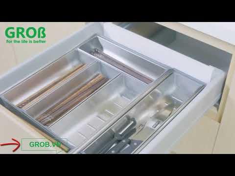 (Grob.vn) Khay chia thìa dĩa Grob Inox 304