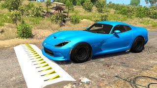 Spike Strip High Speed Testing #21 - BeamNG DRIVE