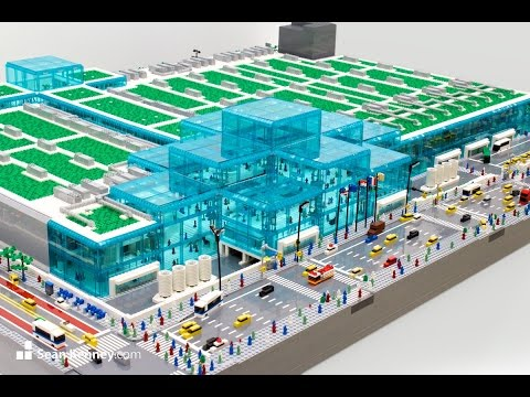 Watch Sean build a 114,470 LEGO piece Javits Center [ Time lapse ]