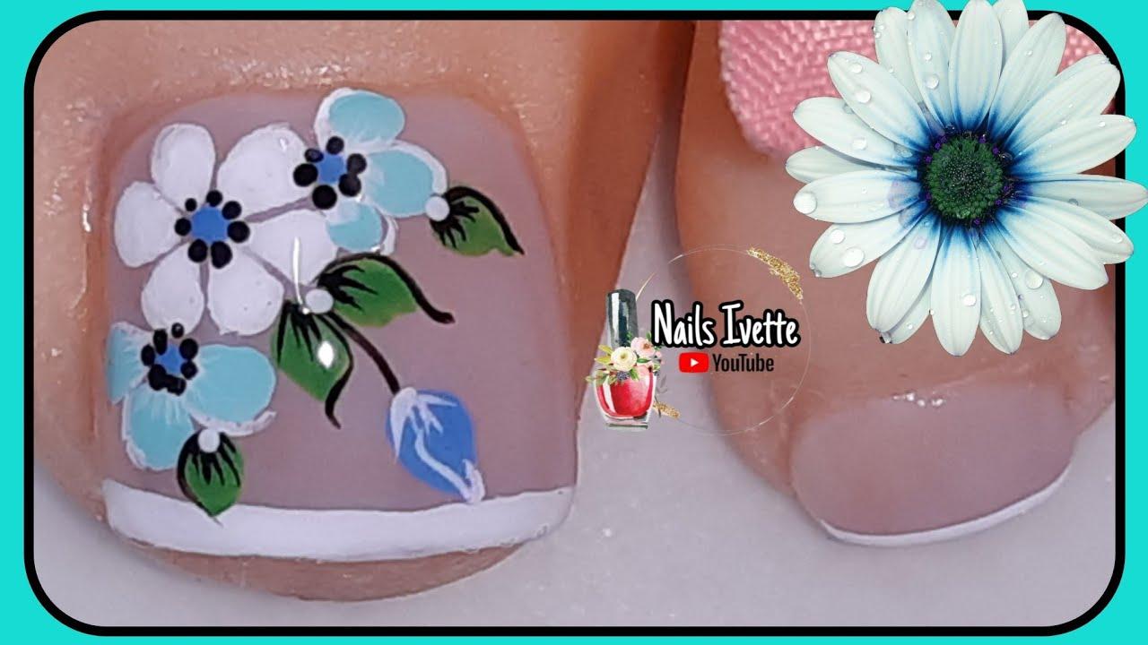 Diseño para uñas de los pies, fácil de hacer paso a paso ...