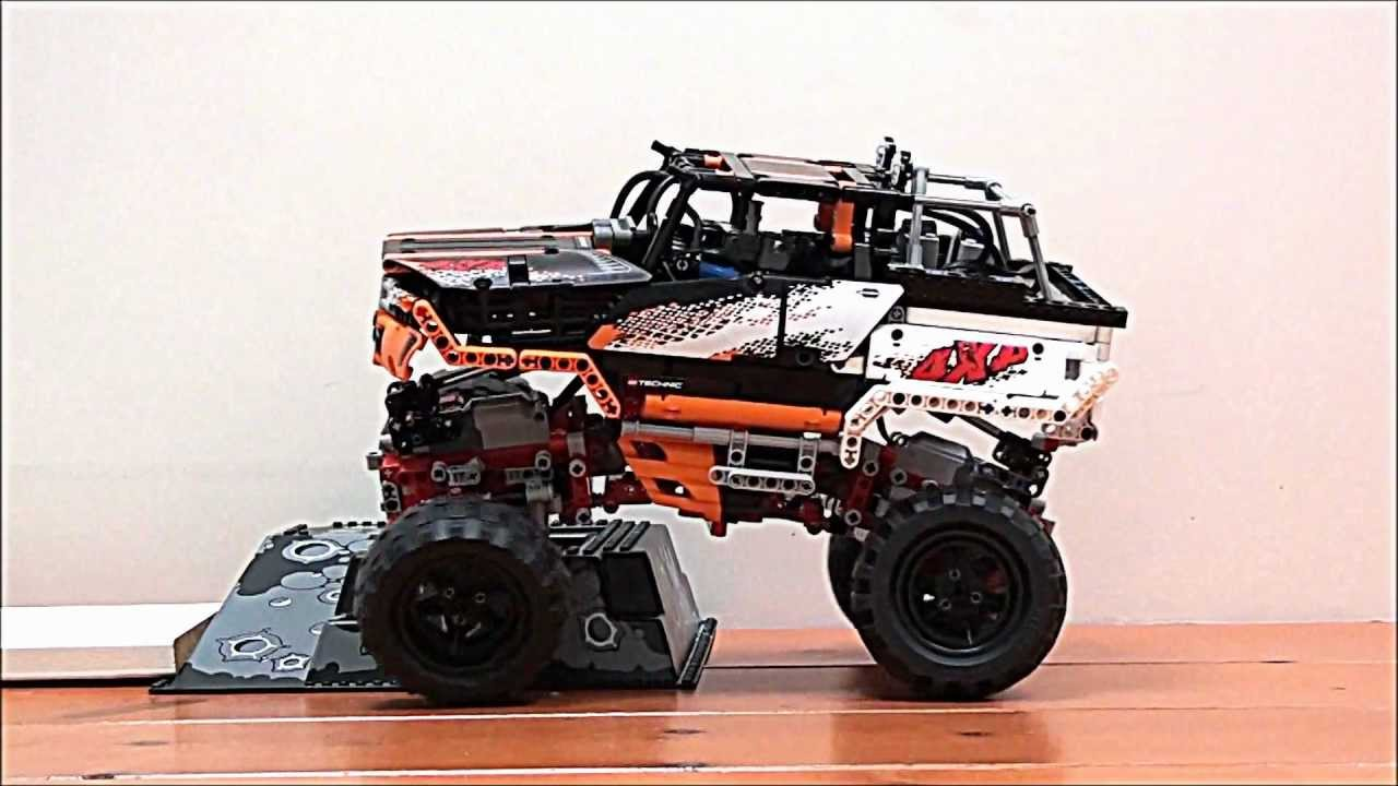 Lego technic 9398 4x4 crawler mod with height adjustable suspension