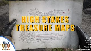 Red Dead Redemption 2 - High Stakes Treasure Maps - Treasure Hunt Locations