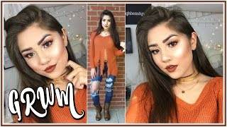 Chit Chat GRWM: Orange Fall Makeup Tutorial + Outfit! ♡ ft. Morphe 35O & Kylie Cosmetics