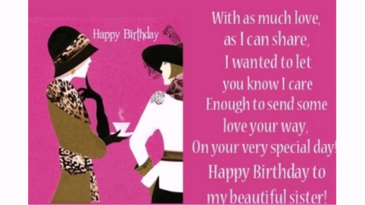 55 Happy Birthday To My Beautiful Sister Wishesgreeting