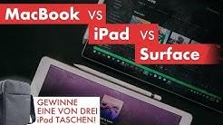 MacBook vs. iPad Pro vs. Microsoft Surface - JPJourney iPad Tasche Review + Gewinnspiel
