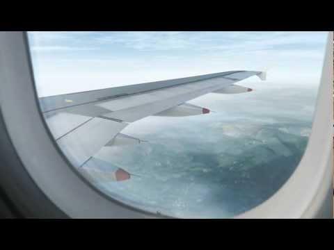 FSX Realistic Landing at Barcelona El Prat (Window View) HD