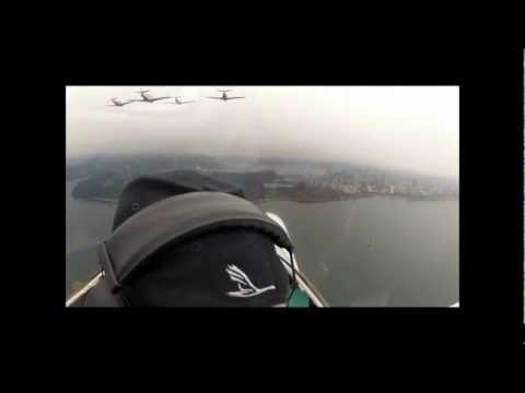 8 plane formation over Vancouver on Remembrance Day HD