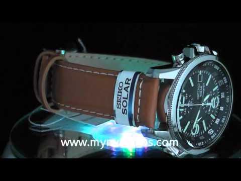 Seiko herren armbanduhr xl chronograph quarz leder ssc081p1