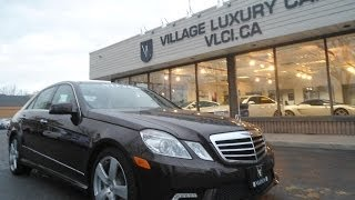 2011 Mercedes Benz E350 [4Matic] in review - Village Luxury Cars Toronto