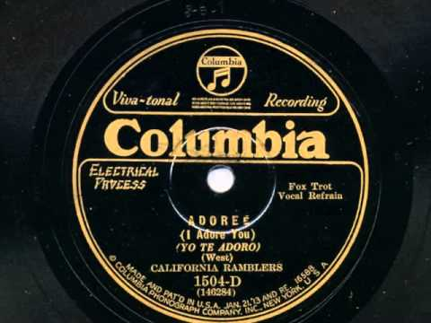 Adoree by The California Ramblers, 1928
