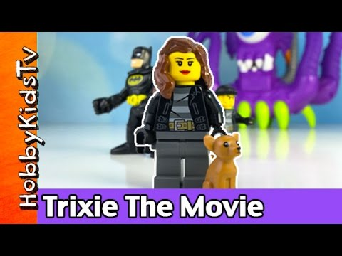 HobbyTrixie The Movie! Imaginext Batman + Lego Play-Doh HobbyKidsTV