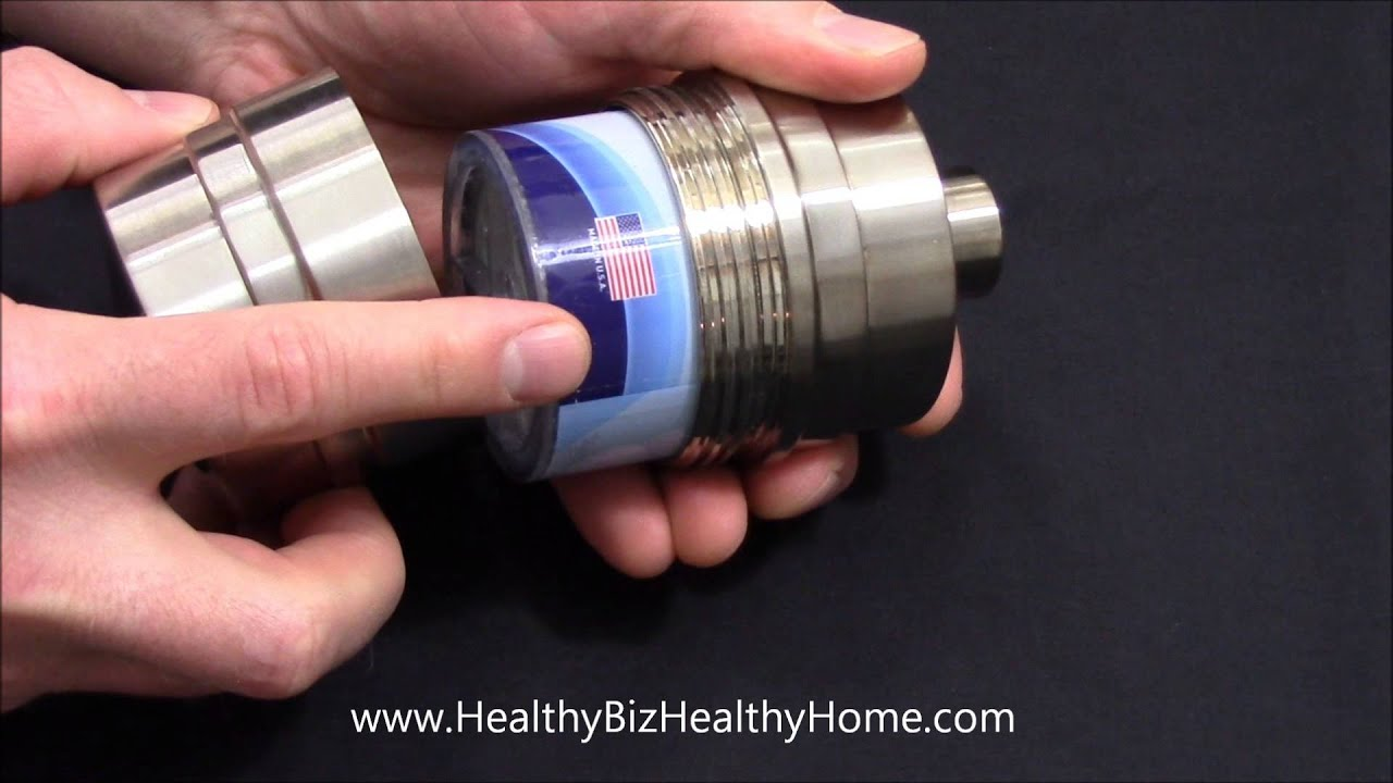 Sprite Shower Filter  High Output Brass Housing Demo  YouTube