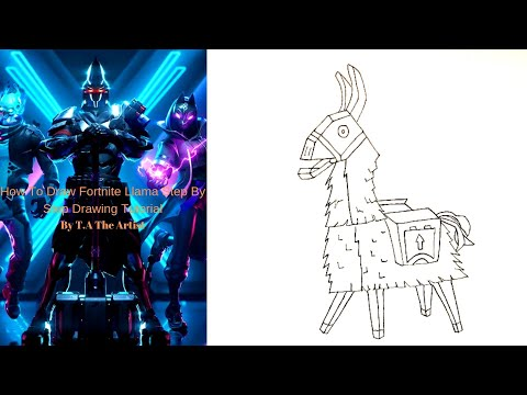 How To Draw Loot Llama From Fortnite Season X Easy Step By Step Drawing Tutorial.How To Draw A Llama