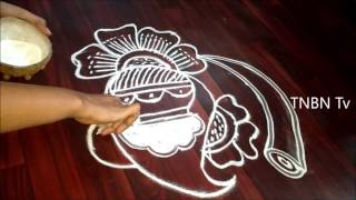 bhogi muggulu, easy bhogi muggulu, bhogi festival muggu, Bhogi Kundalu With Free Hand Rangoli