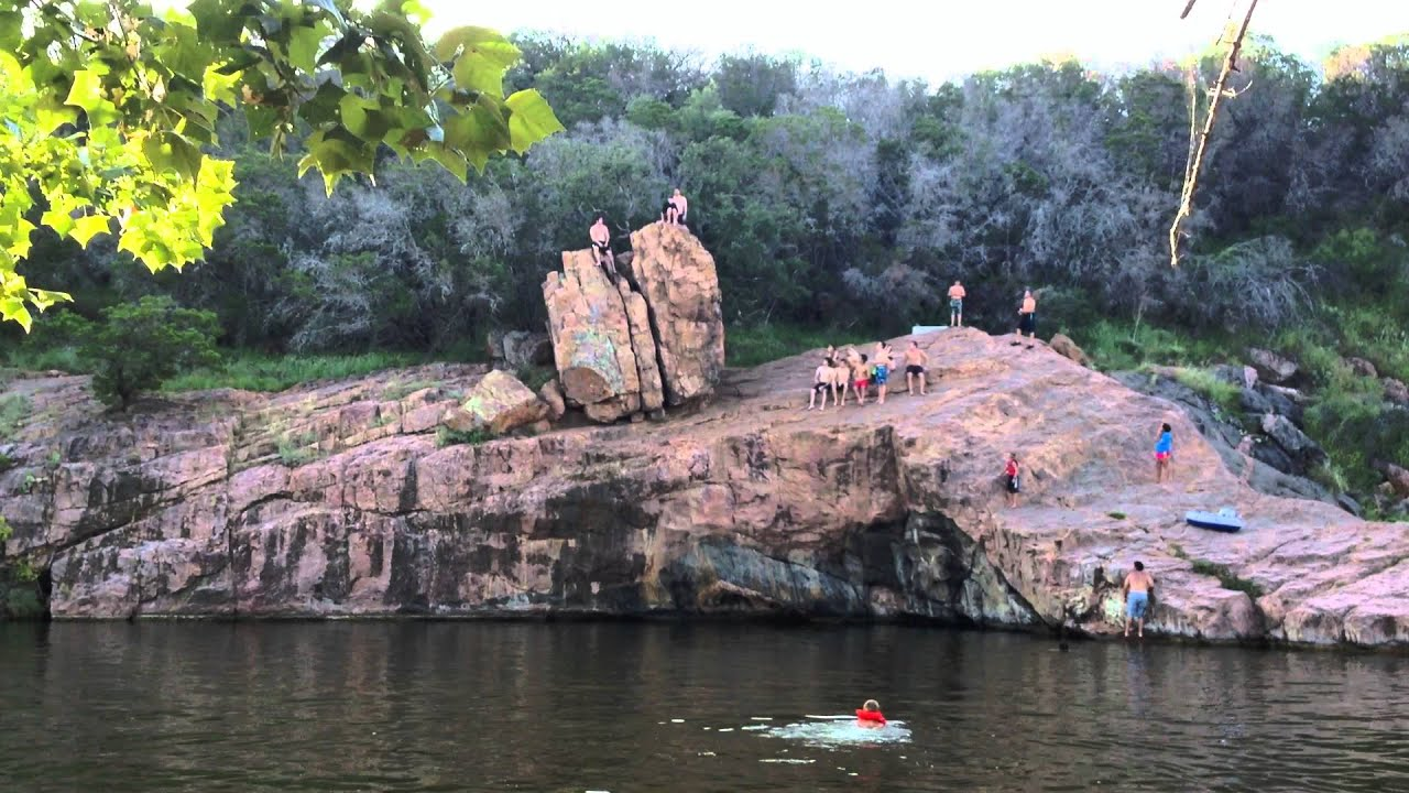 Brayden Clif Jumping Devils Water Hole On Inks Lake